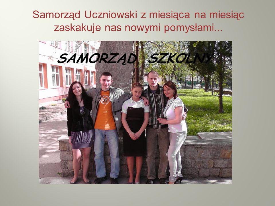 Samorząd Uczniowski z miesiąca na miesiąc zaskakuje nas nowymi pomysłami...