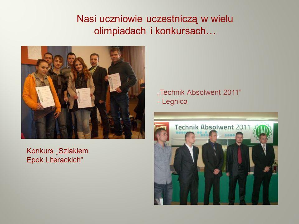 Nasi uczniowie uczestniczą w wielu olimpiadach i konkursach…