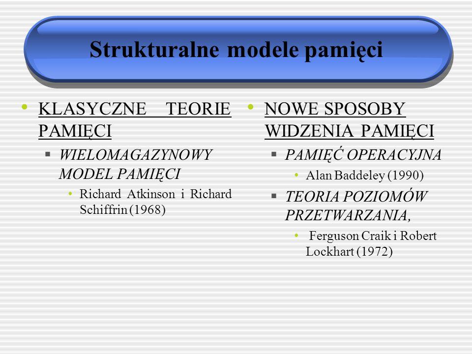 Strukturalne modele pamięci