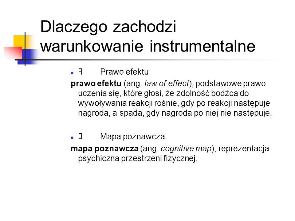 Dlaczego zachodzi warunkowanie instrumentalne