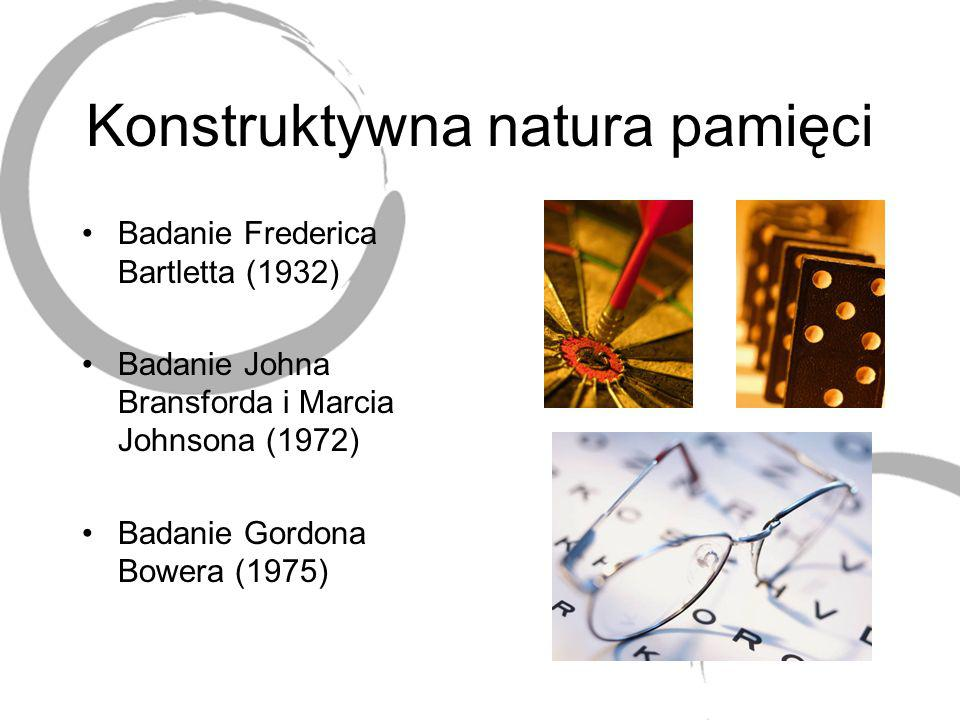 Konstruktywna natura pamięci