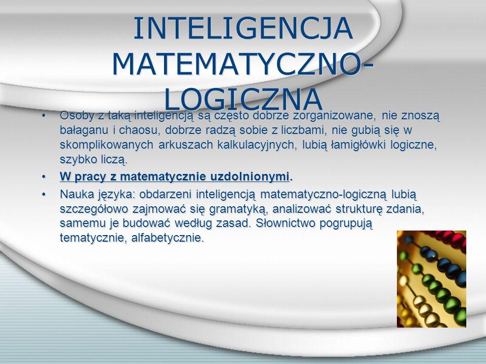 INTELIGENCJA MATEMATYCZNO-LOGICZNA