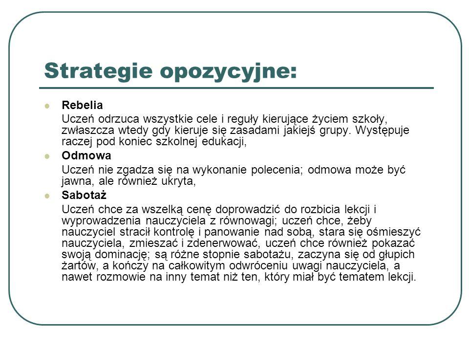 Strategie opozycyjne: