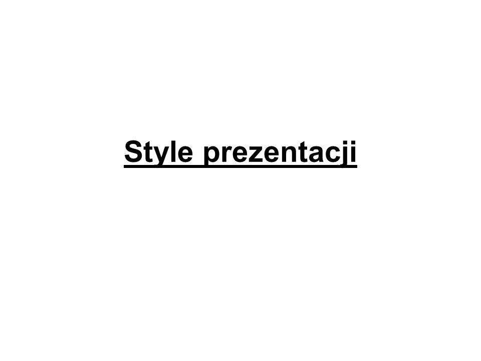 Style prezentacji