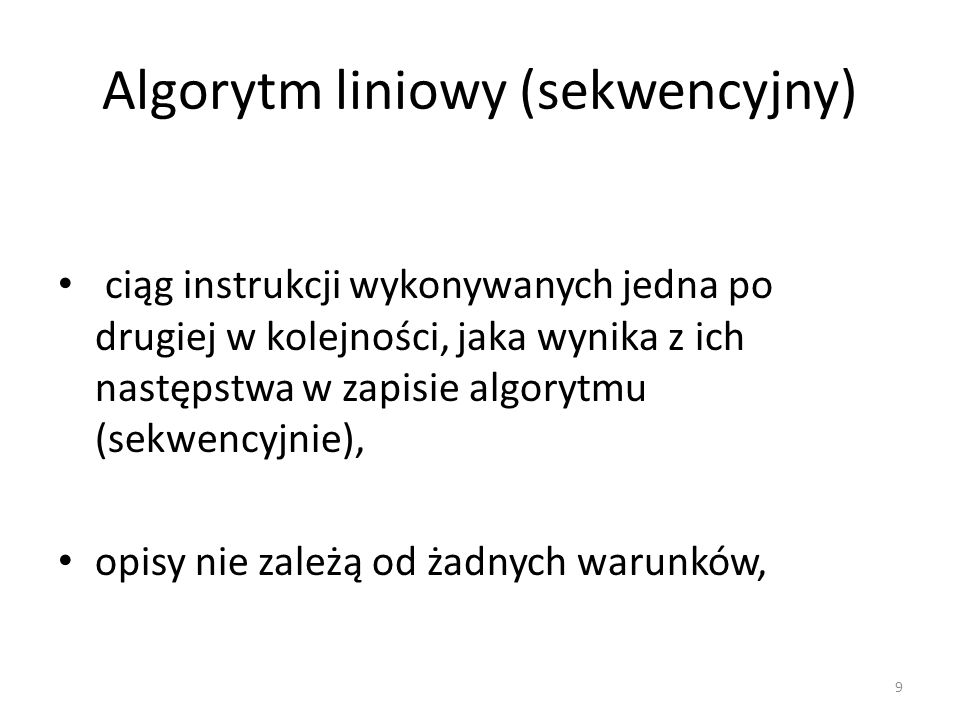 Algorytm liniowy (sekwencyjny)