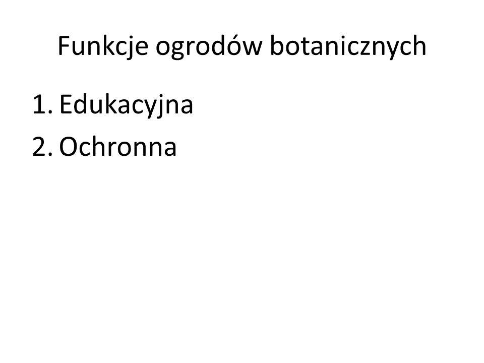 Funkcje ogrodów botanicznych
