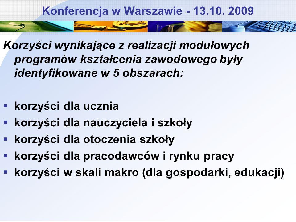 Konferencja w Warszawie - 13.10. 2009