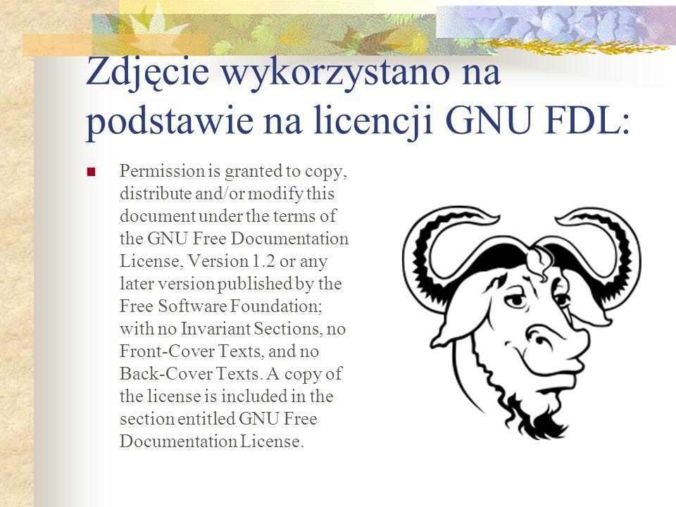 Zdjęcie wykorzystano na podstawie na licencji GNU FDL: