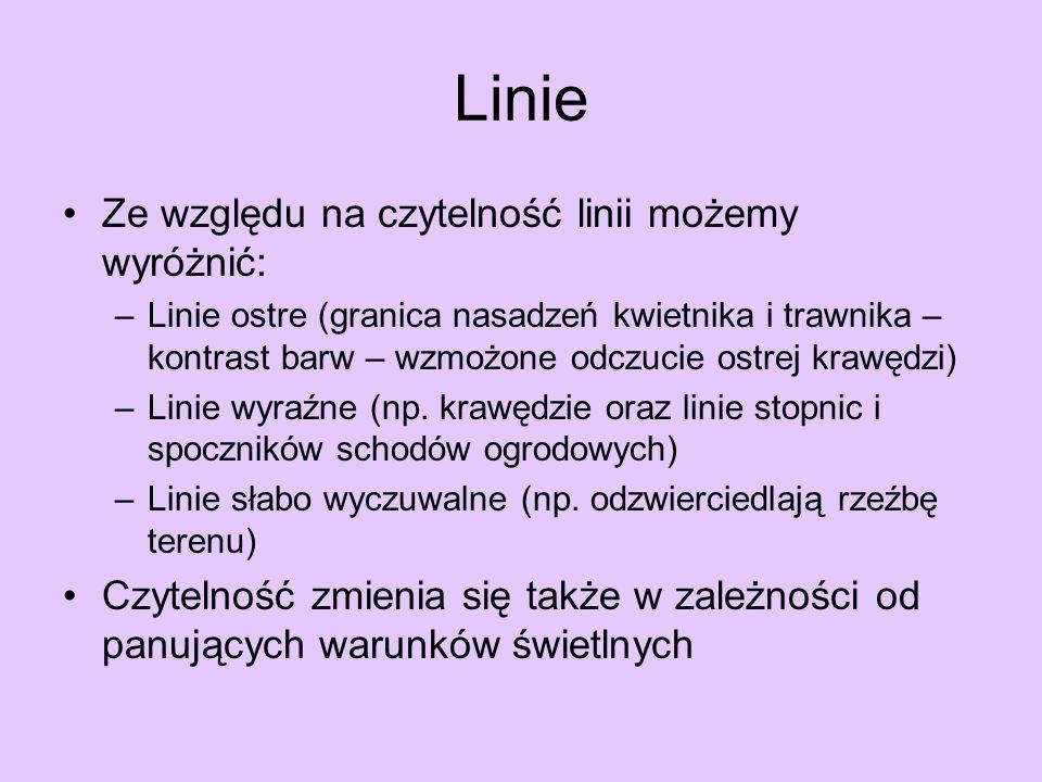 Linie Ze względu na czytelność linii możemy wyróżnić: