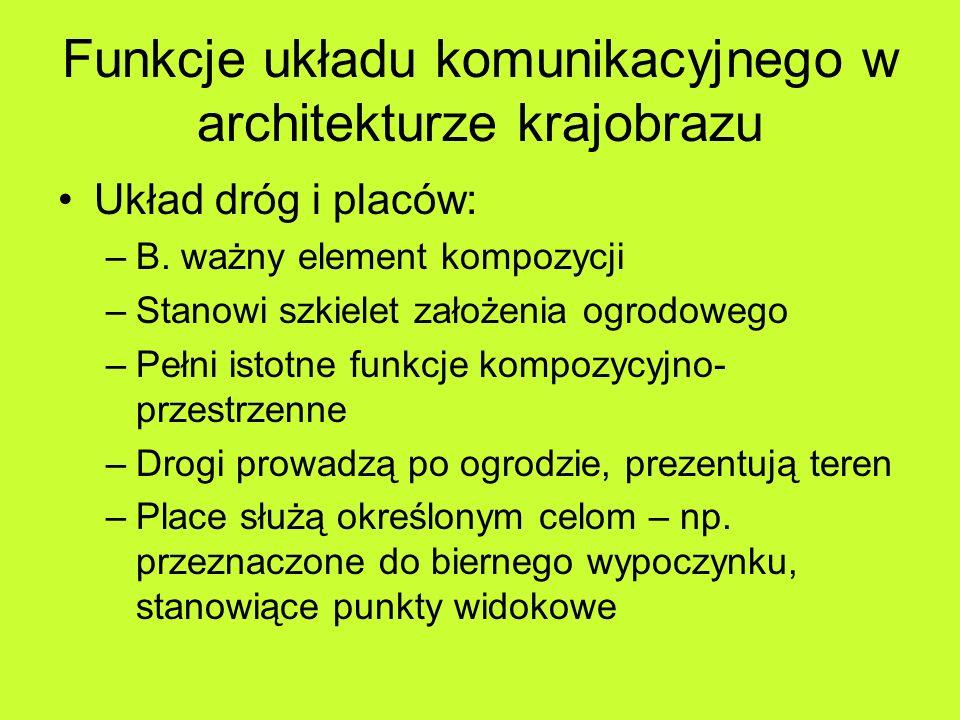 Funkcje układu komunikacyjnego w architekturze krajobrazu