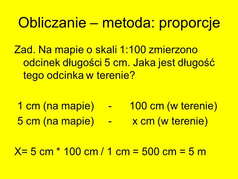Obliczanie – metoda: proporcje