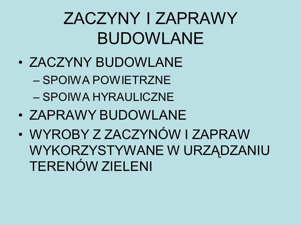 ZACZYNY I ZAPRAWY BUDOWLANE