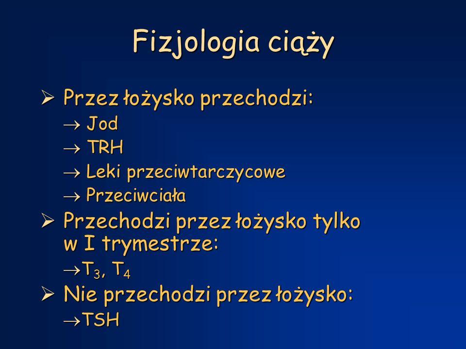 Fizjologia ciąży Przez łożysko przechodzi: