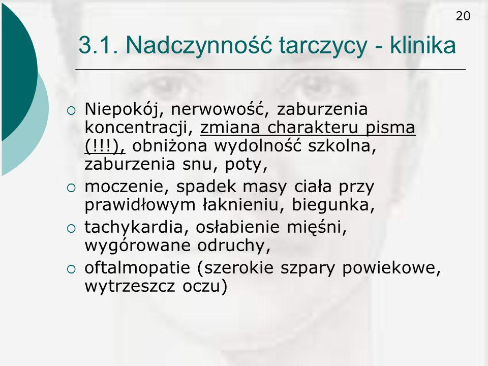 3.1. Nadczynność tarczycy - klinika