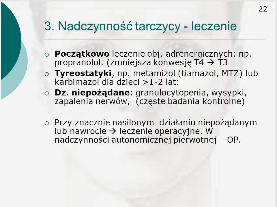 3. Nadczynność tarczycy - leczenie