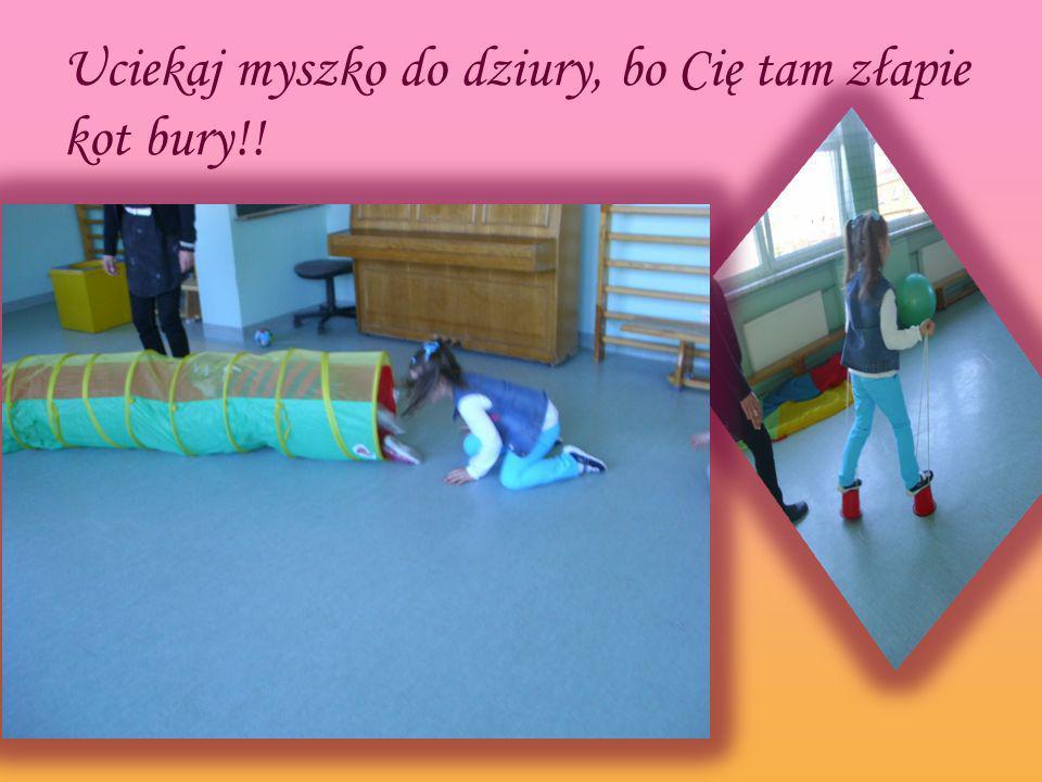 Uciekaj myszko do dziury, bo Cię tam złapie kot bury!!