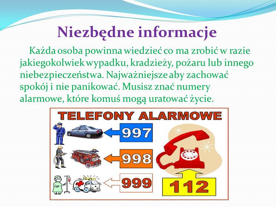 Niezbędne informacje