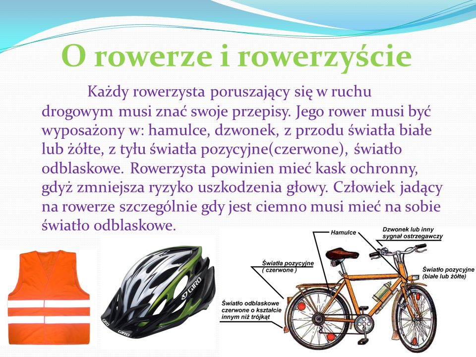 O rowerze i rowerzyście