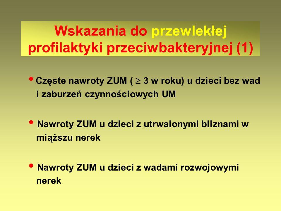 Wskazania do przewlekłej profilaktyki przeciwbakteryjnej (1)