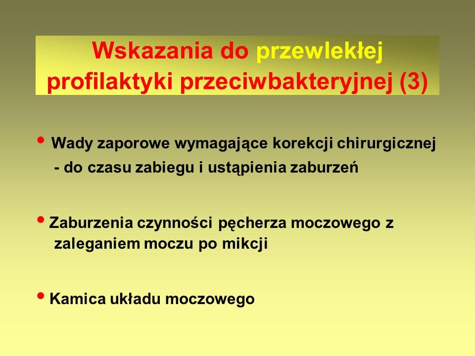 Wskazania do przewlekłej profilaktyki przeciwbakteryjnej (3)