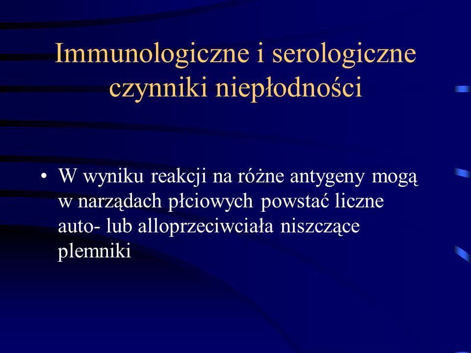 Immunologiczne i serologiczne czynniki niepłodności