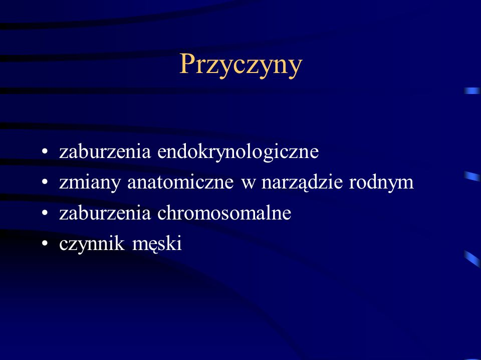 Przyczyny zaburzenia endokrynologiczne