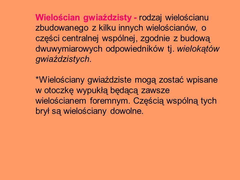 Wielościan gwiaździsty - rodzaj wielościanu zbudowanego z kilku innych wielościanów, o części centralnej wspólnej, zgodnie z budową dwuwymiarowych odpowiedników tj. wielokątów gwiaździstych.