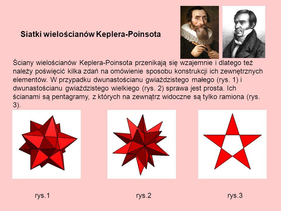 Siatki wielościanów Keplera-Poinsota
