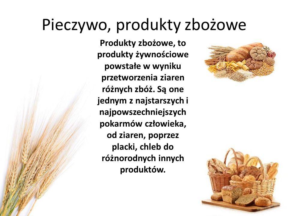 Pieczywo, produkty zbożowe