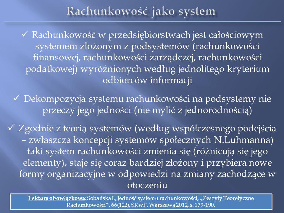 Rachunkowość jako system