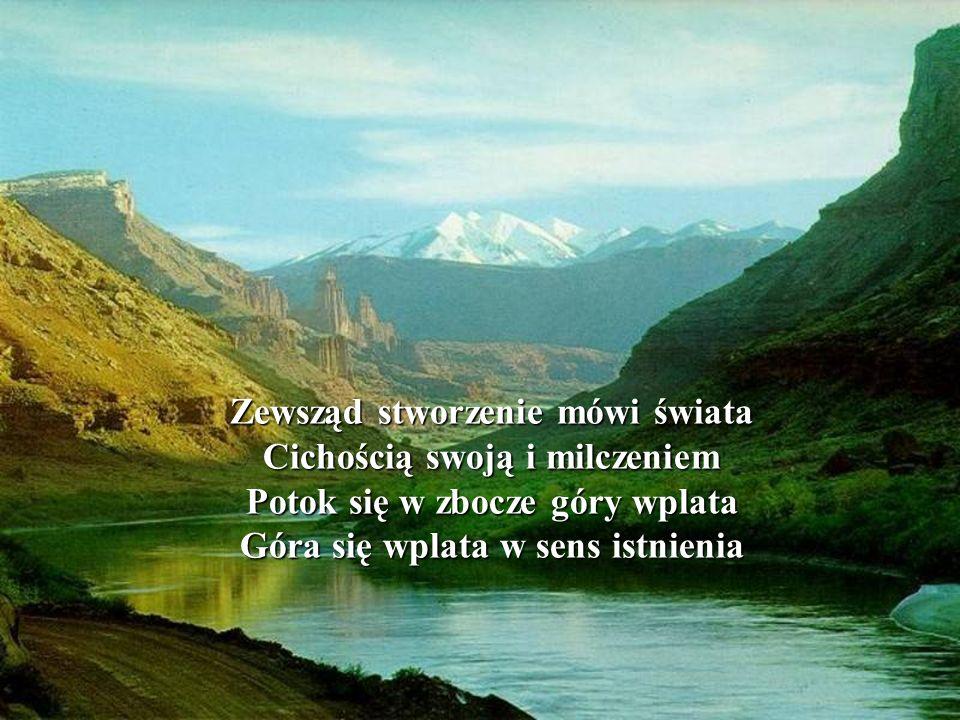 Zewsząd stworzenie mówi świata Cichością swoją i milczeniem