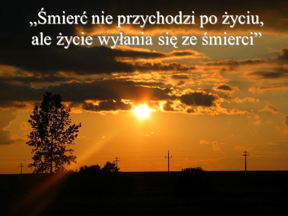 """""""Śmierć nie przychodzi po życiu, ale życie wyłania się ze śmierci"""