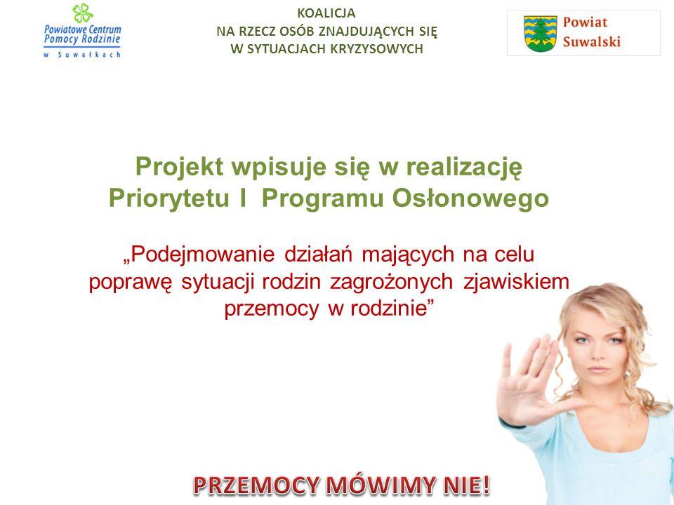 Projekt wpisuje się w realizację Priorytetu I Programu Osłonowego