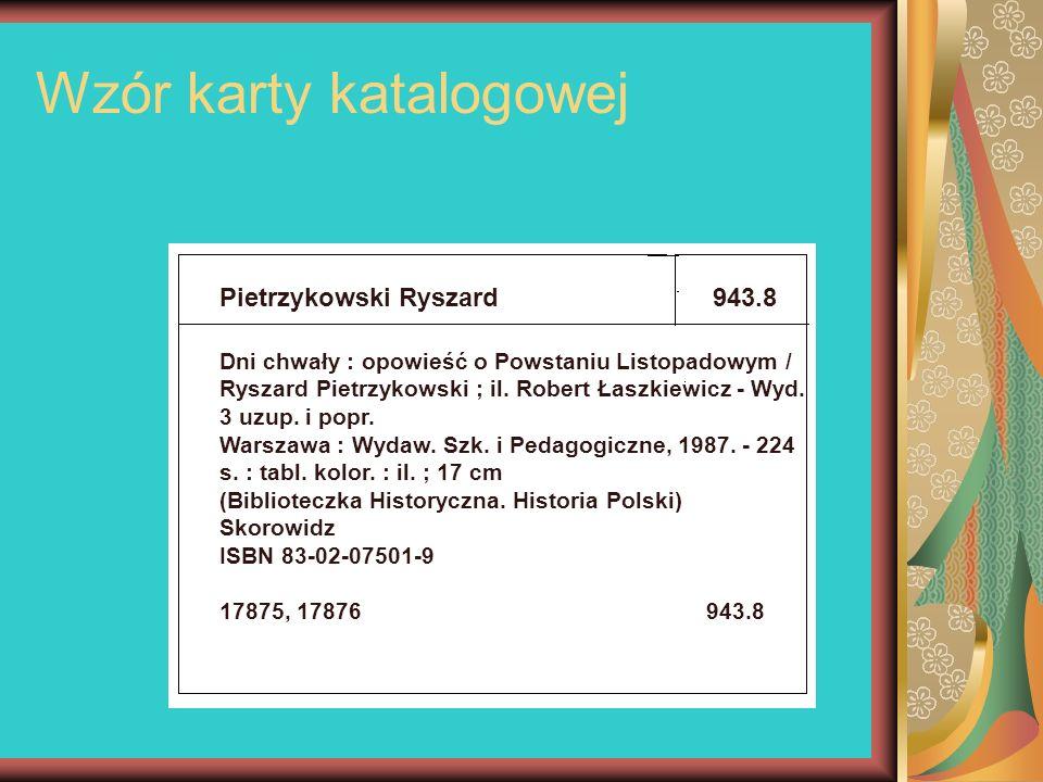 Wzór karty katalogowej