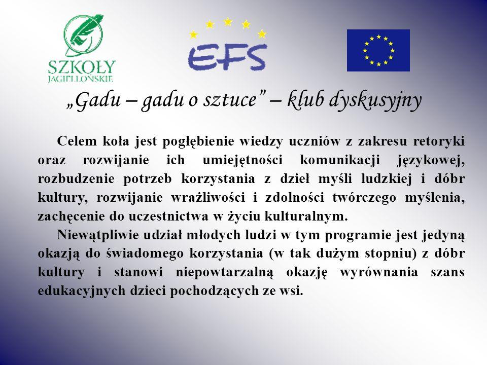 """""""Gadu – gadu o sztuce – klub dyskusyjny"""