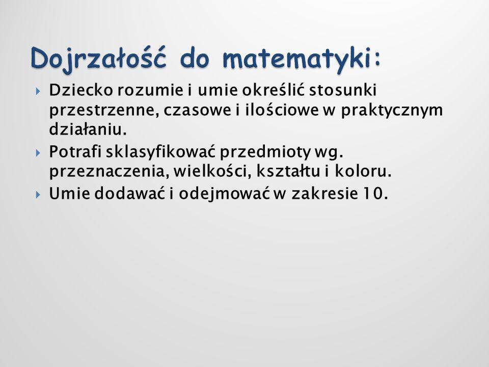 Dojrzałość do matematyki: