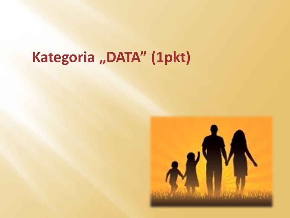 """Kategoria """"DATA (1pkt)"""