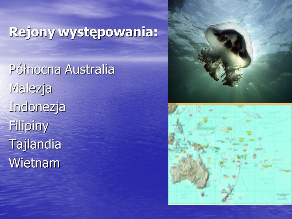 Rejony występowania: Północna Australia Malezja Indonezja Filipiny Tajlandia Wietnam