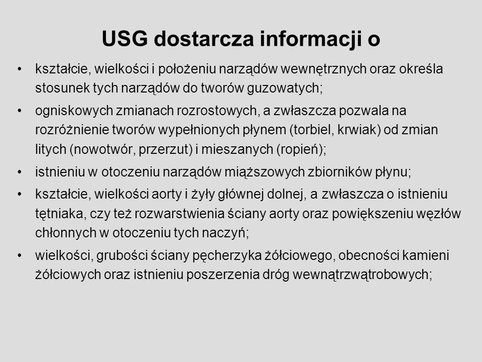 USG dostarcza informacji o