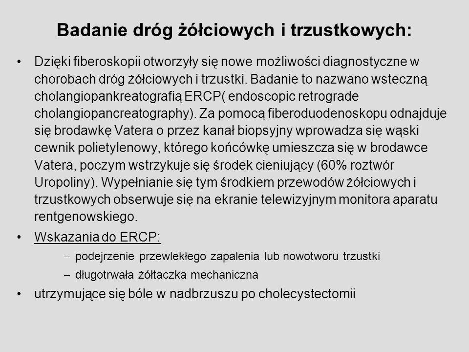 Badanie dróg żółciowych i trzustkowych: