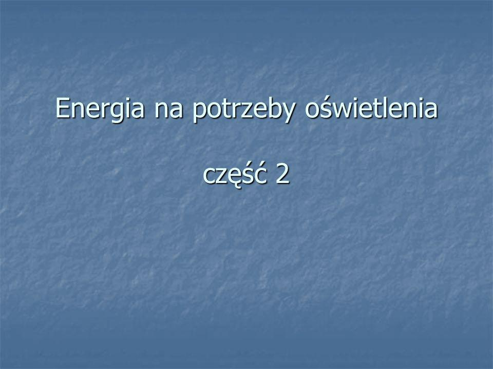 Energia na potrzeby oświetlenia część 2