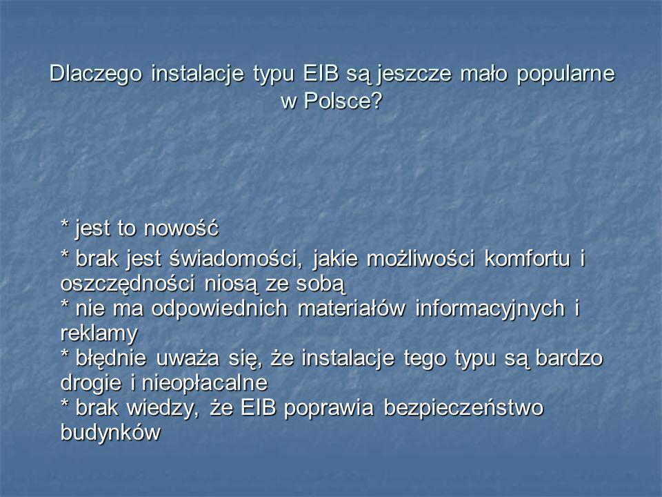 Dlaczego instalacje typu EIB są jeszcze mało popularne w Polsce