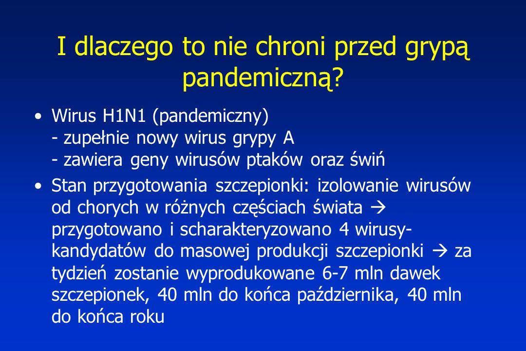 I dlaczego to nie chroni przed grypą pandemiczną