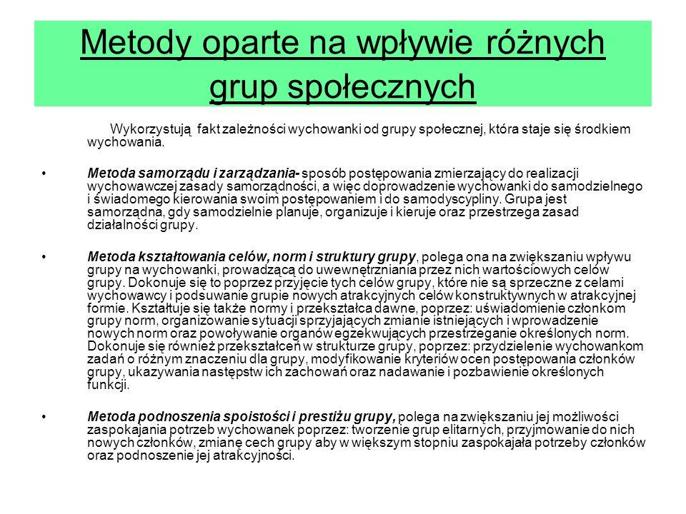 Metody oparte na wpływie różnych grup społecznych