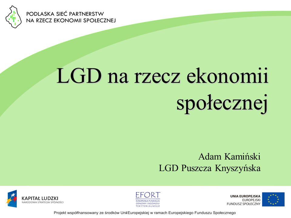 LGD na rzecz ekonomii społecznej