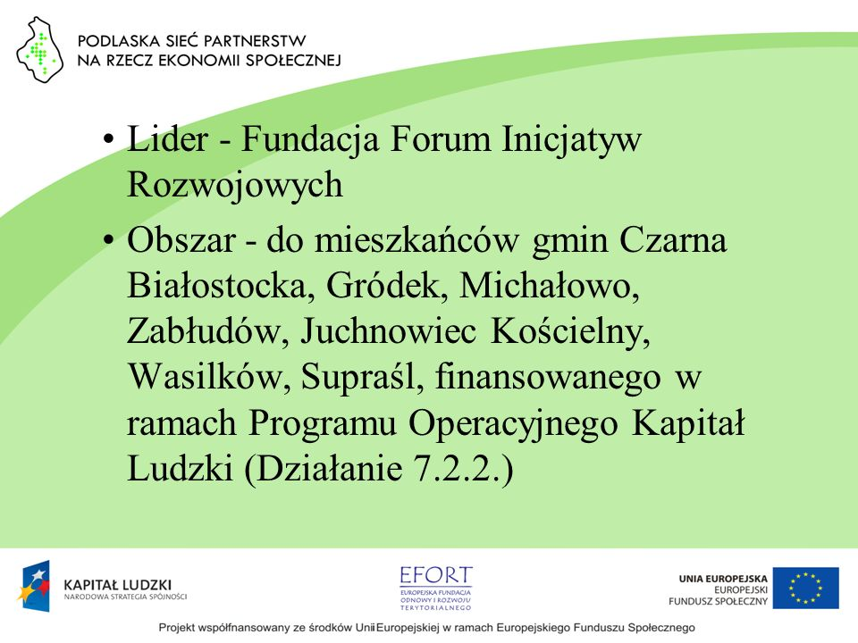 Lider - Fundacja Forum Inicjatyw Rozwojowych