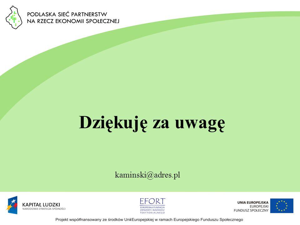 Dziękuję za uwagę kaminski@adres.pl