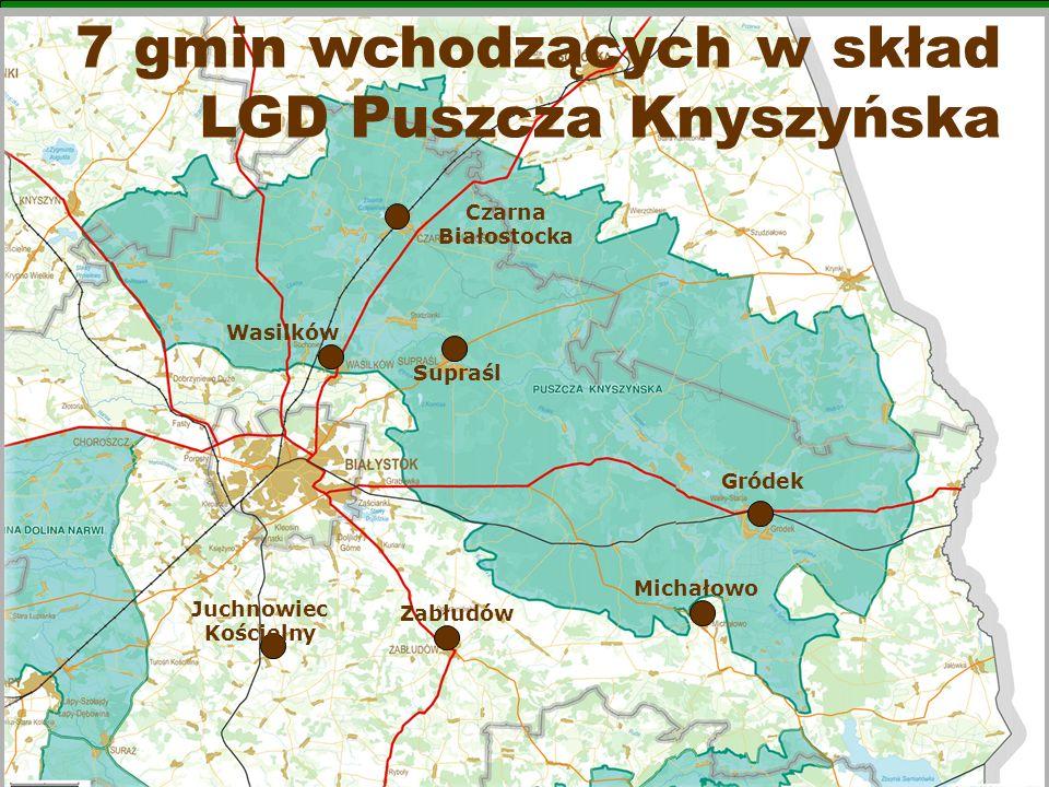7 gmin wchodzących w skład LGD Puszcza Knyszyńska