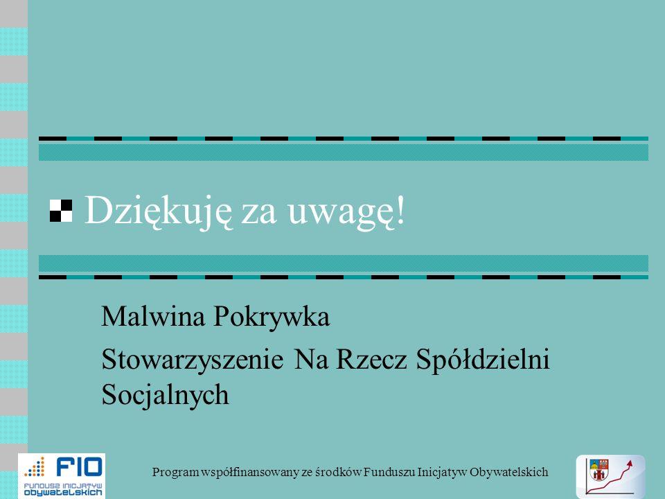 Malwina Pokrywka Stowarzyszenie Na Rzecz Spółdzielni Socjalnych