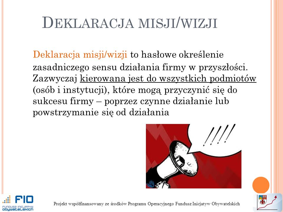 Deklaracja misji/wizji